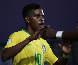 Rodrygo shone in the selection. EFE