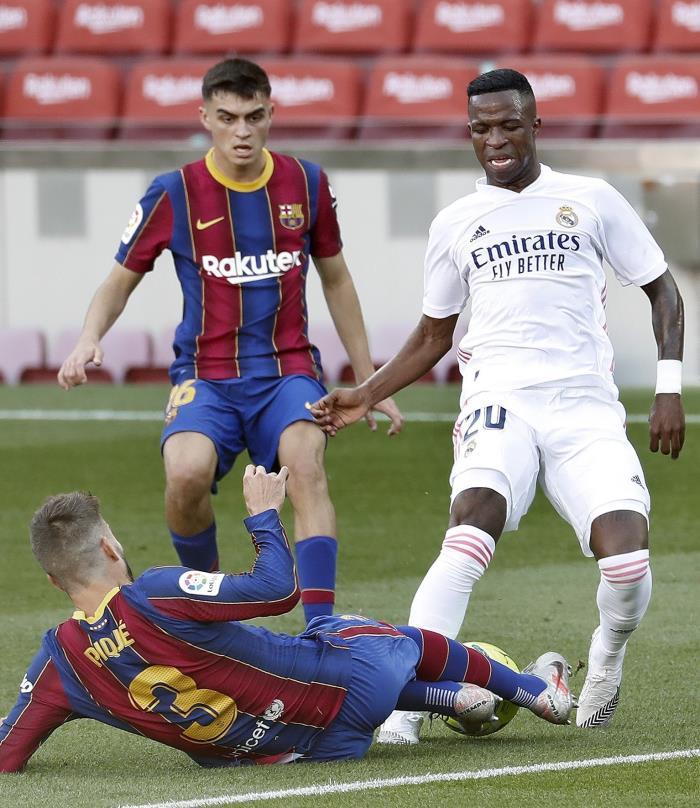 Momento del Barcelona-Real Madrid