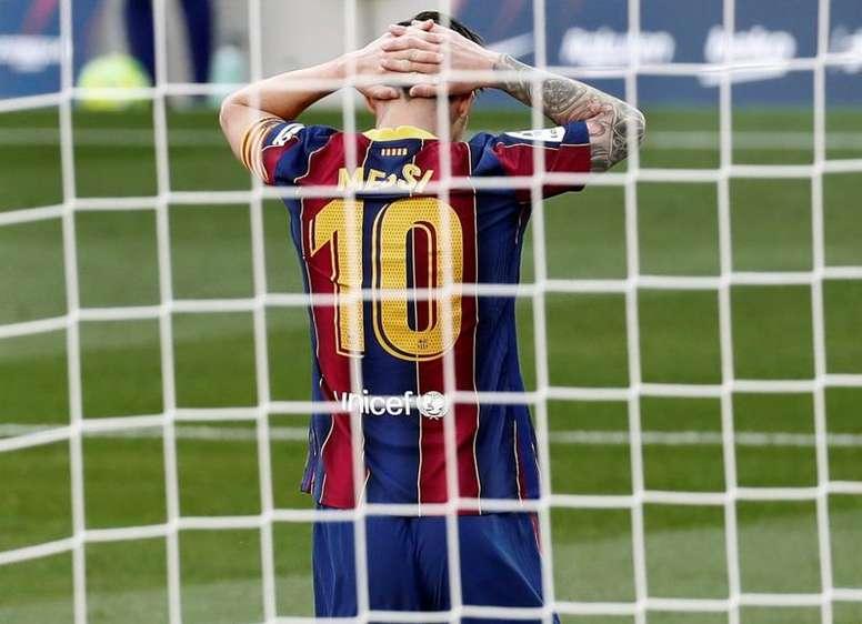 Messi poderá reencontrar Cristiano Ronaldo pela Champions League. EFE/ Andreu Dalmau