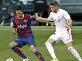 Busquets pode voltar já contra o Osasuna no dia 29/11. EFE/Andreu Dalmau