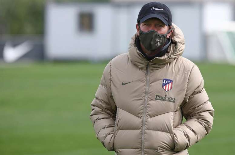 Simeone, satisfecho con Suárez. EFE