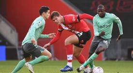 Southampton derrotou o Everton por 2 a 0. EFE/EPA/Andy Rain