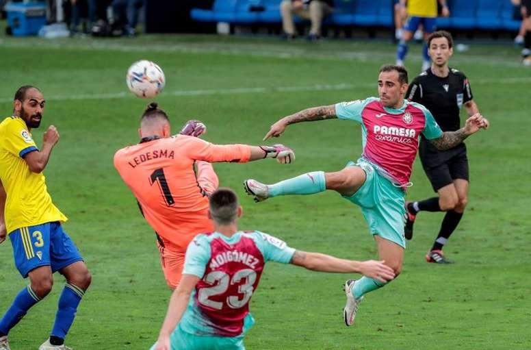 Cádiz y Villarreal firmaron un empate justo. EFE