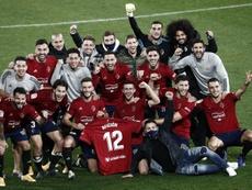 Osasuna superó 1-0 al Athletic en Liga. EFE