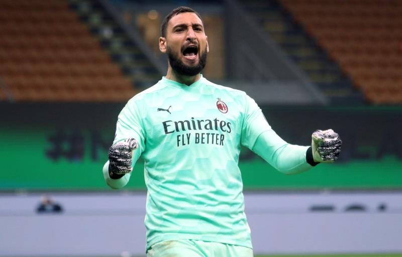 Donnarumma, durante un partido con el Milan