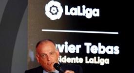 Javier Tebas habló sobre Peter Lim. EFE