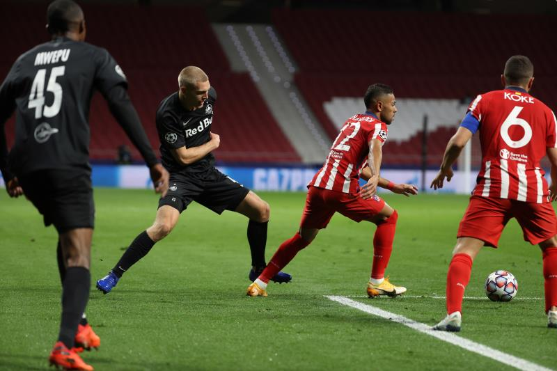 Acción del Atlético-Salzburgo de Champions