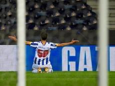 El Oporto se repone ante un Olympiacos que mereció más. EFE/Fernando Veludo