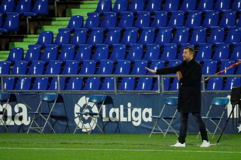 Diego Martínez calificó de barbaridad los triunfos granadistas en la Europa League. EFE