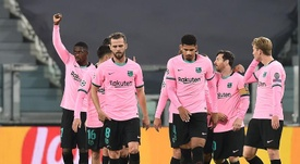Las cuentas del Barça para ser primero de grupo en la Champions. AFP