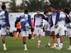 El Madrid volvió para preparar el partido ante la SD Huesca. EFE