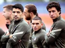 Suarez, absent du groupe de l'Atletico Madrid. EFE