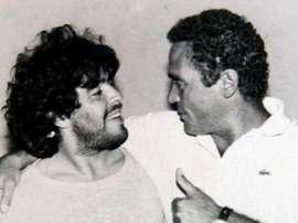 Maradona dejó hipnotizado a Di Marzio. EFE