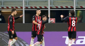 El Milan también gana sin los goles de Ibrahimovic. Captura/MovistarLigadeCampeones