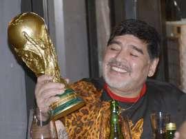 Maradona tocó el cielo en el Mundial del 86. EFE
