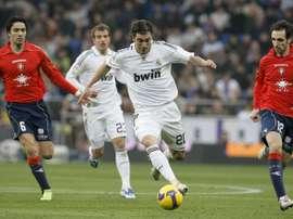 De todos los goles que ha marcado, Juanfran se queda con uno que le hizo al Madrid en Osasuna. EFE