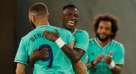 Vinicius fala sobre a sua relação com Benzema. EFE