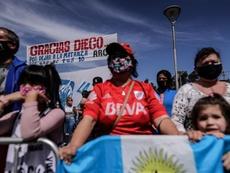 Los homenajes a Maradona por su 60 cumpleaños fueron multitudinarios. EFE