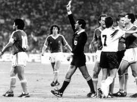 Codesal recordó la mítica final del Mundial de 1990. EFE