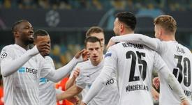 El 'Gladbach venció por 0-6 ante el Shakhtar Donetsk. EFE/EPA/SERGEY DOLZHENKO