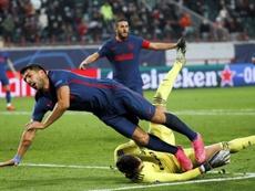 El Atlético debe encontrar el equilibrio en Europa. EFE