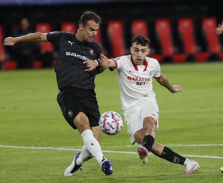 Munir lleva en el Sevilla desde 2019. EFE