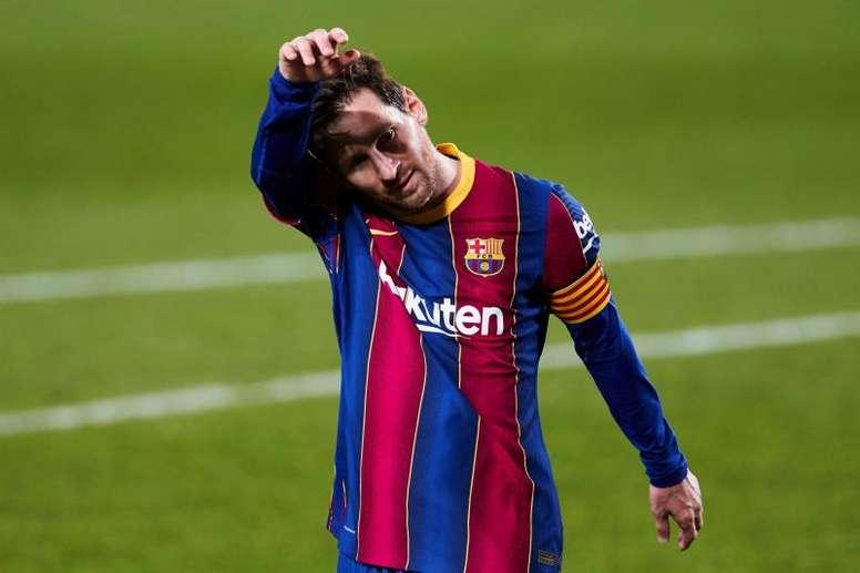 Messi quiso salir del Camp Nou este verano. EFE