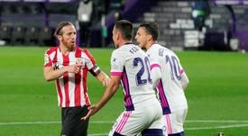 El Valladolid consiguió un triunfo agónico ante el Athletic. EFE