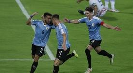 Diego Rossi, entre los positivos de Uruguay. EFE