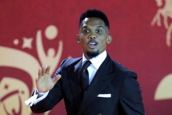 Eto'o será candidato à presidência da Federação Camaronesa de Futebol. AFP