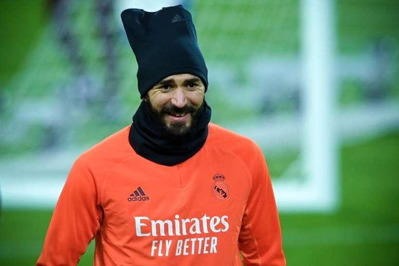 Karim Benzema ne s'est pas entraîné. afp