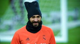 Karim Benzema is still an unknown for the game against Inter. EFE