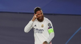 Real Madrid captain Sergio Ramos decided to train alone. EFE