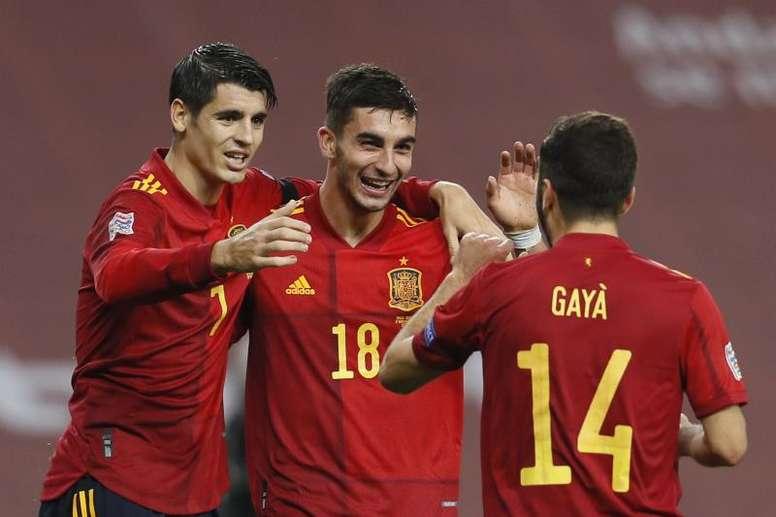 Le triplé de Ferran Torres contre l'Allemagne. EFE