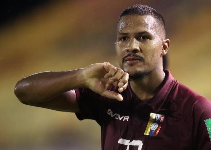 Rondón, incertain pour la Copa América. EFE