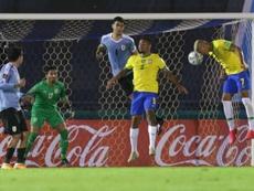 Tite hace invencible a Brasil en Sudamérica. EFE/Matilde Campodonico