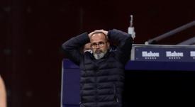 Cervera, sancionado con cuatro partidos, no se sentará ante el Barça. EFE
