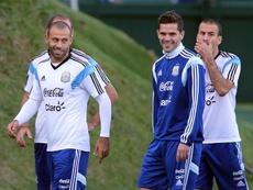 Mascherano y Gago anunciaron sus retiradas. EFE