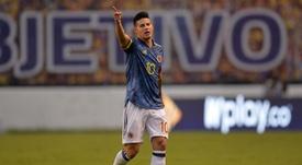 Caos na Colômbia tem goleadas, técnico na berlinda e James Rodríguez desmentindo pancadaria. EFE