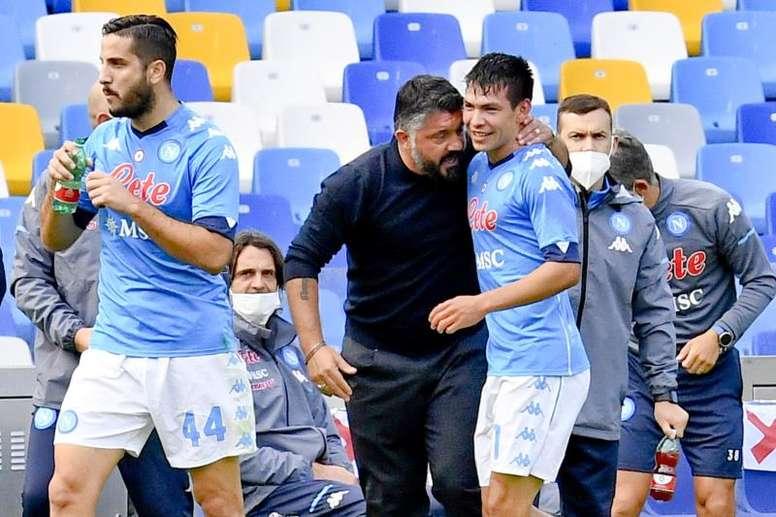 El Nápoles de Hirving Lozano pone a prueba al líder Milan. EFE