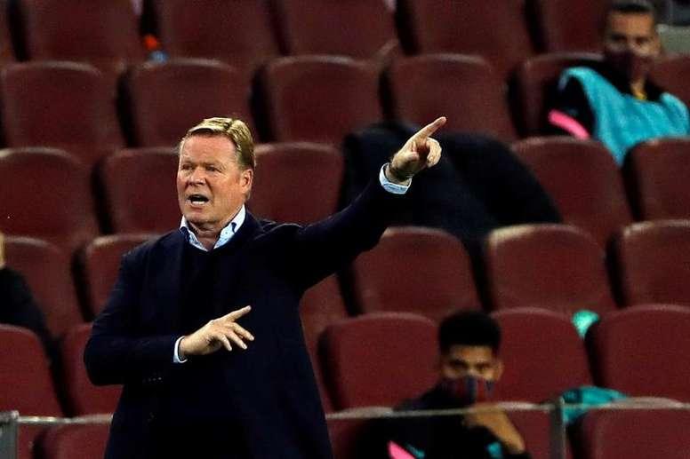 Koeman is not happy with Barcelona's kick off times. EFE