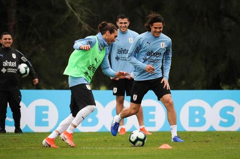 As normas não foram cumpridas com a Seleção do Uruguai. EFE/Raúl Martínez