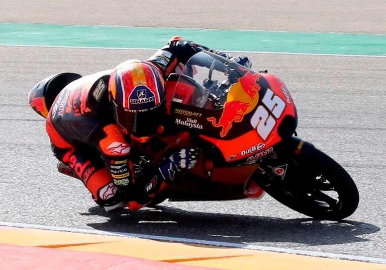 El piloto de Moto3 Raúl Fernández. EFE/Javier Cebollada/Archivo