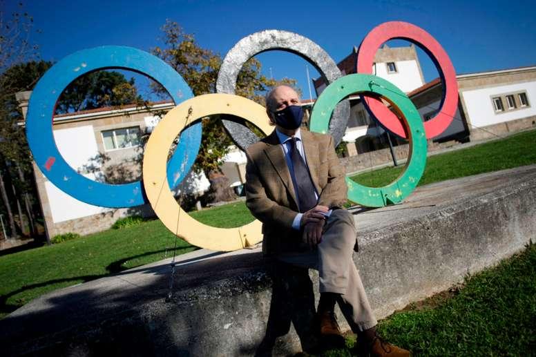 El presidente de la Asociación Española de Ciencias del Deporte (AECD), Rafa Martín Acero, durante una entrevista este sábado con la Agencia Efe en A Coruña en la que ha asegurado que el ránking Shanghái avala el trabajo de las Facultades de Ciencias del Deporte y reivindica su vuelta al Plan Estatal de Investigación Científica y Técnica y de Innovación, del que formaron parte entre los años 2010 y 2017. EFE/ Cabalar