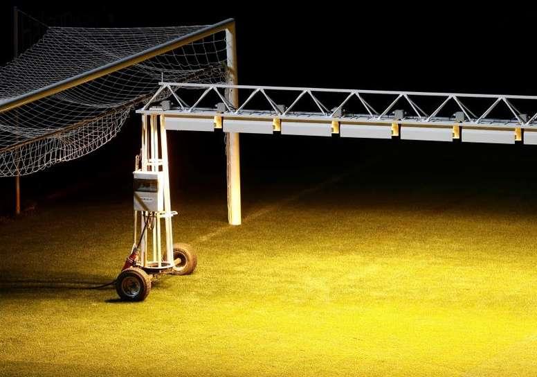 Osasuna se ha hecho con la mejor tecnología para que el verde luzca de 10. EFE