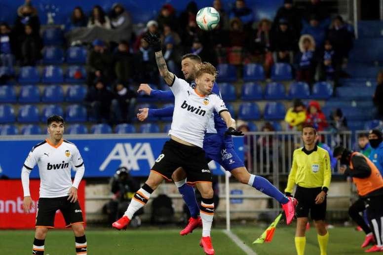 El triunfo ante el Real Madrid motiva al Valencia de cara a Vitoria. EFE