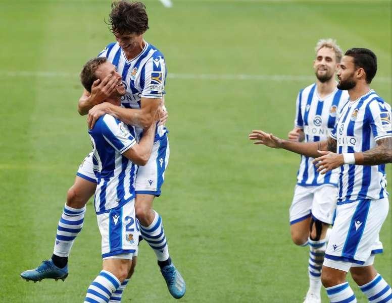 La Real Sociedad, líder por un solo gol. EFE