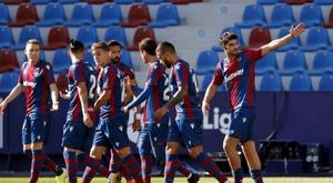 Gonzalo Melero striker for Levante scored. EFE