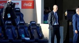 Zidane falou após o empate com o Villarreal. EFE/ Domenech Castelló