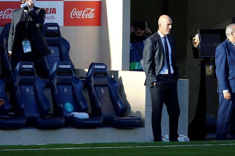 Zidane analizó el empate en La Cerámica. EFE